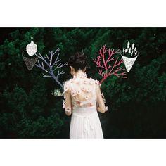 KAORI SHINOHARA × MEGUMI SHINOZAKI 'DUAL' VOL.3 Photo&Illustration collage: Sakura Fantasma / Stylist: Kaori Shinohara / Hair-make: Kaori Shinohara / Model: Tsugumi Shindo / Flower: Megumi Shinozaki
