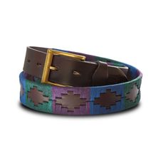 Love Scotland? Or just like the colours try wearing our Royal Scottish belt in green, purple and blue.