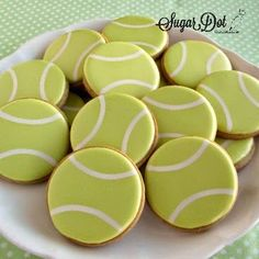 Sugar Dot Cookies: Tennis Sugar Cookies