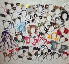 cantidad 40 orejas animales diadema cumpleaños por Partyears