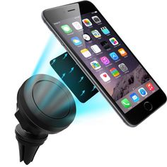 Brotherhood Air Vent Magnetic Car Mount Universal Cell Phone Holder GPS Car Mount Phone Cradle for iPhone 6 / 6s 5s 5c 4 Samsung Galaxy S7 Edge S6 S5 Note 5 4 HTC black. Strong magnet and keep the phone secured on the vent. Before you buy this product, please make sure the air vent mount is suitable for your car's vent (it is not compatile with AC vents). Easy to get your phone on and off. The thin metal plate is placed between the phone case and the phone to provide magnetic attraction....