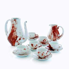 bloody tea set