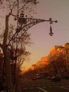 Barcelona - Passeig de Gracia at twilight