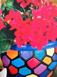 """""""ANGEL"""" patchwork pot painted by Blue Angel"""