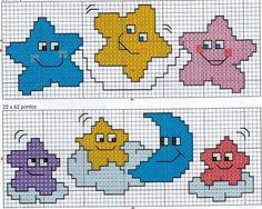 CHILDREN'S REASONS MINIATURE cross stitch BIBS FOR ...