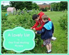 A Lovely List