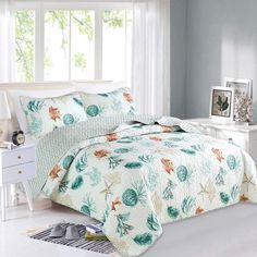 e3aa6eafc2ead Home Fashion Designs Key West Collection Quilt Set Queen Quilt
