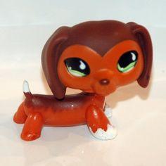 #675 Littlest Pet Shop Caramel Brown Dachshund wiener dog