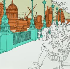 Southbank, London. #southbank #london #print #art #green #orange #stpauls #thegherkin. © Tommy Penton 2014