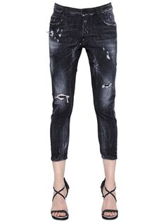 e6a19196e8 DSQUARED2 Tidy Washed   Destroyed Denim Jeans