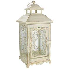 "10"" Antique White Metal Lantern | Hobby Lobby | 681726"