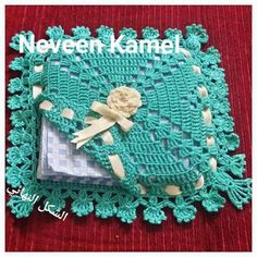 Croche and Points: Napkin door step by step