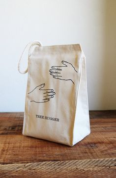 Lunch bag Lunch Box Lunch Tote Reusable Lunch Bag Screen Printed Canvas Tote Bag Lunch S - Lunch Bag - Ideas of Lunch Bag Reusable Lunch Bags, Lunch Tote, Canvas Tote Bags, Canvas Totes, School Bags, Fashion Bags, Ulzzang, Screen Printing, Prints