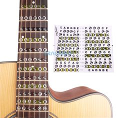 Guitar Parts & Accessories Guitar Fretboard Notes Map Labels Sticker Fingerboard Fret Decals For 6 String Acoustic Electric Guitarra Bringing More Convenience To The People In Their Daily Life Sports & Entertainment