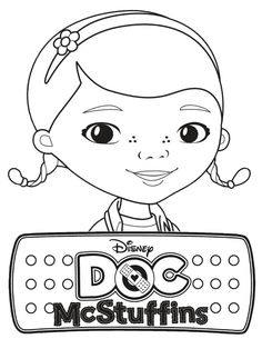 (Need To Print From Coloring Book) *Table Favor* Doc McStuffins Coloring Pages
