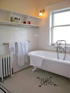20th-century-bath-artsandcrafts-tub - hexagon tile pattern (from oldhouseonline)
