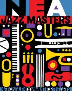 NEA Jazz Masters   Chermayeff & Geismar Music Illustration, Graphic Design Illustration, Jazz Concert, Concert Posters, Festival Posters, Music Posters, Jazz Artists, Jazz Music, Design Art
