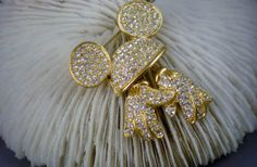 Vintage Brooch Mickey Mouse Pin Reticulated Rhinestones on Etsy, $36.00