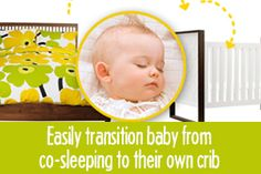 Easily transition baby from co-sleeping to crib