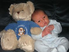 Personalised teddy bear for Baby or Christening gift.  #Christening gift #babygift