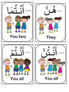 Learning Arabic MSA (Fabienne) Arabic Pronouns flash cards-(Bundle of 14 flash cards)