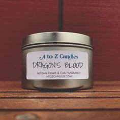 Dragon's Blood - Soy Tin Candles - Available in 2oz, 4oz, 8oz, or 16oz