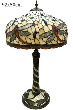 "Tiffany Tischlampe ""Königslibelle"" Table Lamp, Lighting, Was, Home Decor, Atelier, Tiffany Table Lamps, Stained Glass, Deco, Table Lamps"