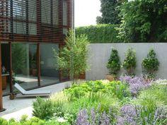wild city garden by del Buono Gazerwitz Landscape Architecture, no grass but colour & visual interest