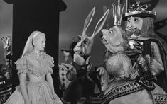 "1949, Quite possibly the strangest of the Alice in Wonderland movies I've seen. A lot of that thanks to the really bizarre stop motion puppets that inhabit ""Wonderland"" in this film created by Bunin Puppets."
