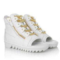 Giuseppe Zanotti Sneakers – Elma Birel/Vague White – in gold, weiß – Sneakers für Damen