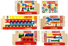 Dutch vintage toy packaging via Present & Correct. Graphic Design.