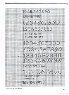 Image result for cijfers in kruissteek