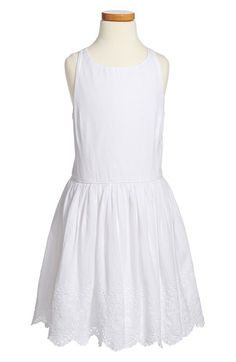 Ralph Lauren Eyelet Lace Border Sundress (Big Girls) available at #Nordstrom
