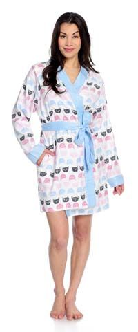 Cat polka dot cozy flannel robe is here from Munki Munki  Robes  Cozy b1b5aae4d
