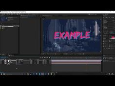 how to make a vaporwave intro in after effects // tutorial - YouTube