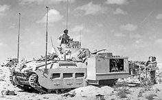 The Scorpion variant had a Matilda Chassis with a mine flail mounted. The mine flail was a device that deliberately detonated mines in front of the vehicle that carried it, in order to clear a safe path through a minefield. Tank Warfare, North African Campaign, Ww2 Tanks, Military Equipment, American War, Armored Vehicles, British Army, War Machine, Military History