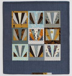 mini sunrise quilt by carolyn friedlander | Looks like I'm going to have to learn how to paper piece cuz I want one of these.