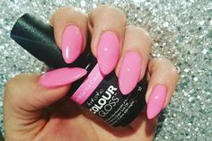 Pastel Nails using Artistic Colour Gloss Devil Wears Nada available at Louella Belle Colorful Nail Designs, Nail Designs Spring, Cool Nail Designs, Pink Polish, Gel Polish Colors, Nail Colors, Uk Nails, Gel Nails At Home, Minimalist Nails