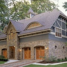 Brown roof houses on pinterest brown roofs exterior - House colors with brown roof ...