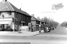 Hove, Brittany Road c.1955. Brittany Road runs inland from Kingsway at the corner shop pictured in photograph No H128002. The scene here is not changed greatly today, although there are many more parked cars which line the road and the trees have grown. From the Francis Frith collection.
