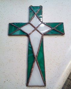Margaret A two tone cross by Roome35 on Etsy, $33.00