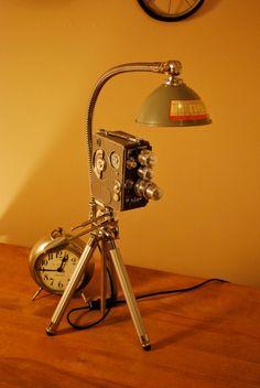 Red Hollywood Movie Camera Desk Lamp: Amazon.co.uk: Lighting