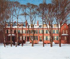 Lawren Harris - A Row of Houses Wellington Street (Street Painting I) 25 x 30 Oil on canvas David Milne, Clarence Gagnon, Tom Thomson, Montreal Museums, Famous Portraits, Street Painting, Canadian History, Wood Engraving, Source Of Inspiration