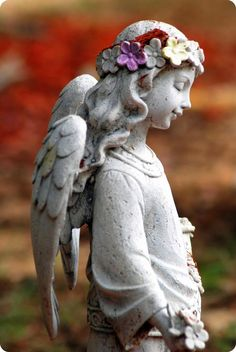 An angel in the garden