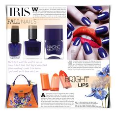 """Iris -fall manicure-"" by dolly-valkyrie ❤ liked on Polyvore featuring schoonheid, Nails Inc., RGB, OPI, Arco, nails, Iris, manicure en fallmanicure"