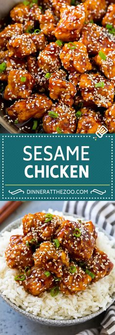 Sesame Chicken Recipe Crispy Chicken Asian Chicken sesame chicken asian dinner dinneratthezoo is part of Sesame chicken recipe - Honey Sesame Chicken, Seasame Chicken Recipe, Crockpot Sesame Chicken, Seseme Chicken, Healthy Sesame Chicken, Recipe Chicken, Best Chicken Recipes, Easy Chinese Chicken Recipes, Chinese Crispy Chicken