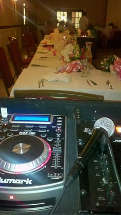 Our DJ Jenn took this picture from the DJ booth at the White Bear Country Inn.  Sometimes there are so many guests it feels like you are snuggling up to the bridal party!  http://www.whitebearcountryinn.com/facilities.phtml