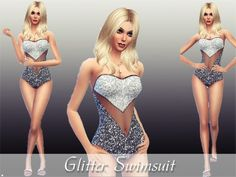 The Sims Resource: Glitter Swimsuit  by TheSims4Magazine • Sims 4 Downloads