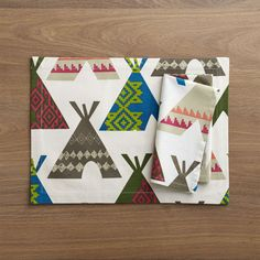 Teepee Placemat and Teepee Napkin  | Crate and Barrel