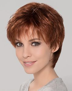 Come and buy Short Synthetic Perfect Cropped Auburn Wavy Monofilament Wigs. Pixie Bob Haircut, Short Pixie Haircuts, Hairstyles Haircuts, Straight Hairstyles, Layered Haircuts, Short Wavy Pixie, Short Hair Cuts, Short Hair Styles, Pixie Styles